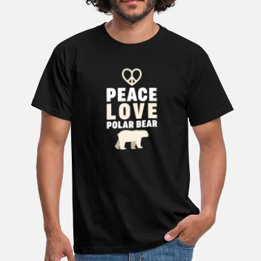 Peace Peace Love Polar Bear - Mannen T-shirt