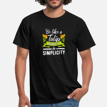 Springtime Flower Gardening | Tulips Holland Netherlands - Men's T-Shirt
