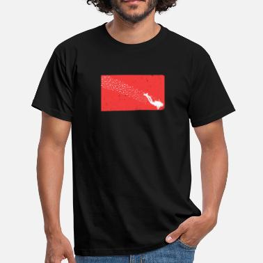 Free Diving XASTY Dive Flag Diving Free Diving Diver - Men's T-Shirt
