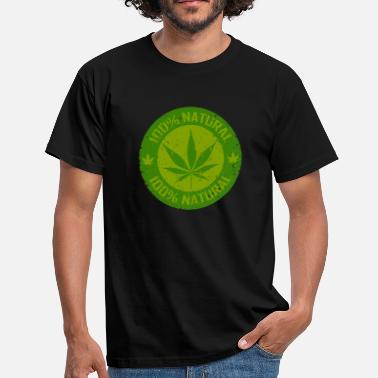 Smoke Weed 100% Natural - Men's T-Shirt