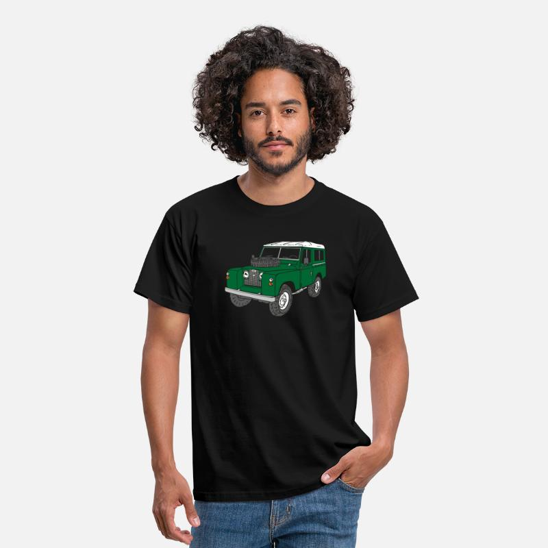 Regalos Camisetas - Landy Land Rover Defender Series Jeep - Camiseta hombre negro