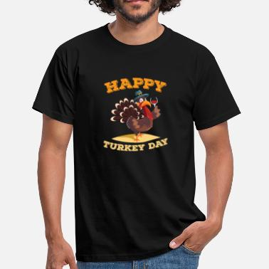 Thanksgiving Happy Turkey Day Funny Thanksgiving wijn - Mannen T-shirt