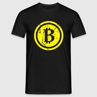 Bitcoin B distressed - T-shirt Homme