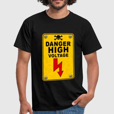 Voltage danger high voltage - Men's T-Shirt