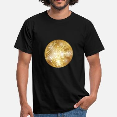 Disco Diskokugel / Spiegelkugel / Disco Ball (Gold, PNG) - Men's T-Shirt