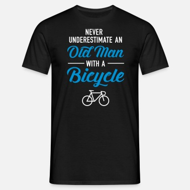 Man Old Man - Bicycle - Mannen T-shirt