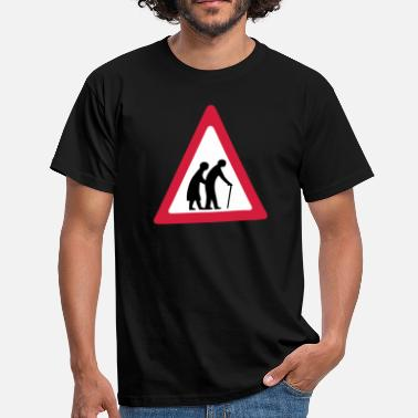 Elderly Elderly Crossing Sign - Men's T-Shirt