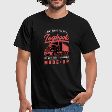 Keep Truckin Trucker Truck Logbook Gift Idea - Men's T-Shirt