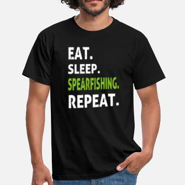 Spearfishing Eat Sleep Spearfishing Cool Funny Gift - Men's T-Shirt
