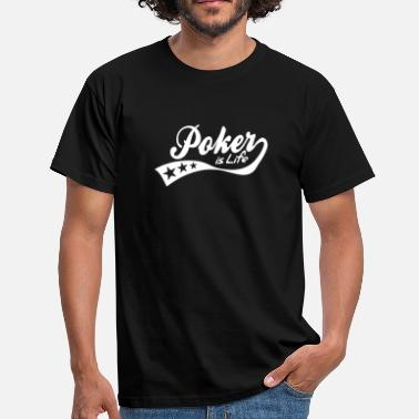 Solitaire poker is life - retro - Herre-T-shirt