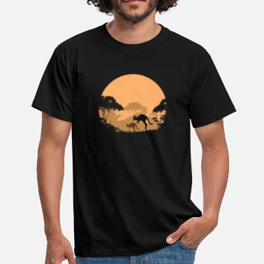 Outback Australia  - Outback in the night - Männer T-Shirt