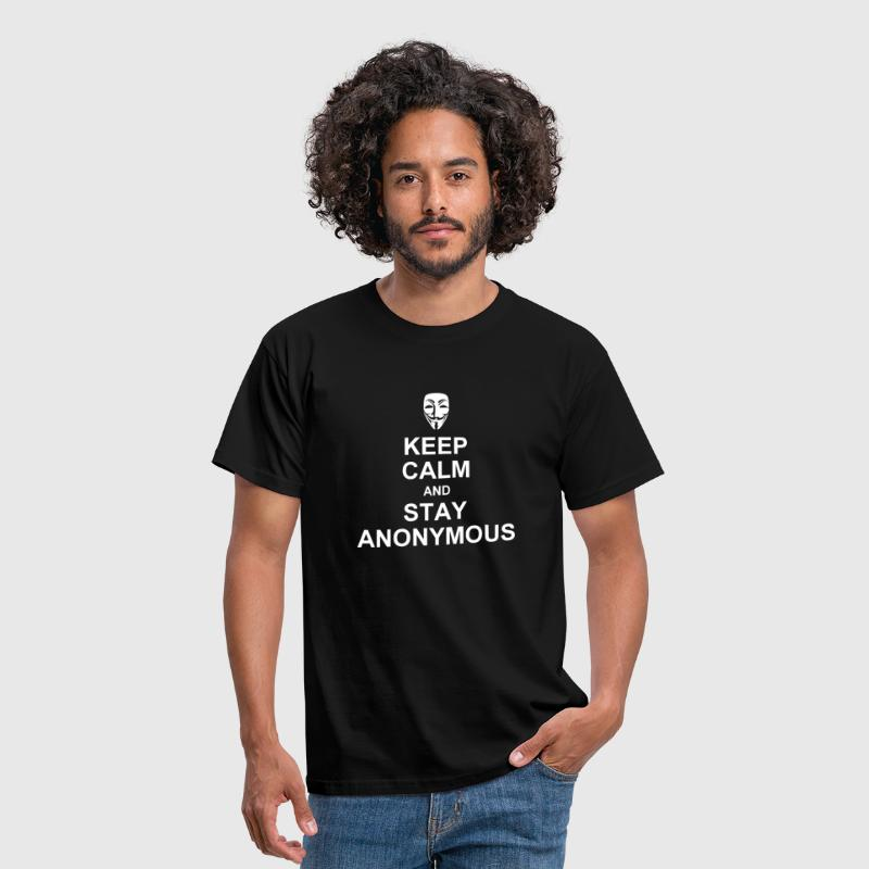keep calm and stay anonymous - Men's T-Shirt