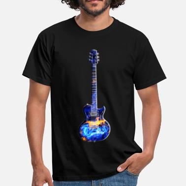 Guitarist Blues Electric Guitar Universe - Men's T-Shirt