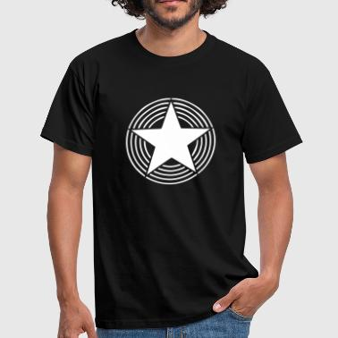 Stern Kreis Star With Circles - Männer T-Shirt