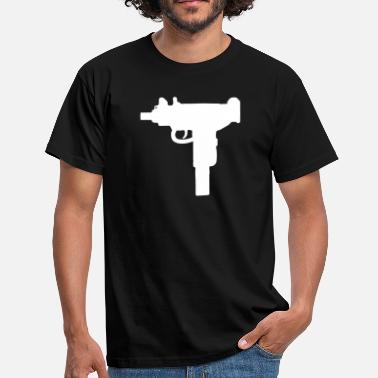 Machine Gun Uzi Machine Gun - Männer T-Shirt