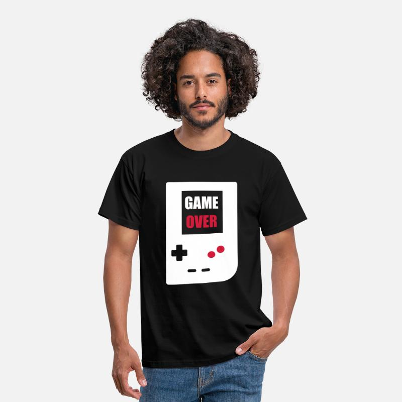 Clan T-Shirts - game over : Retro Gaming console - Mannen T-shirt zwart