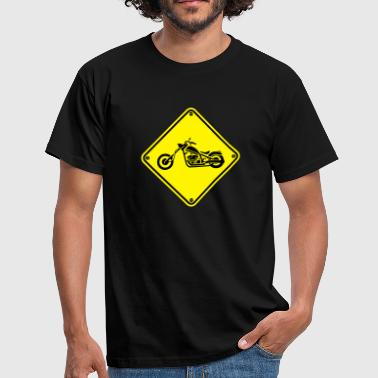 Warning Motorrad 1 - Men's T-Shirt
