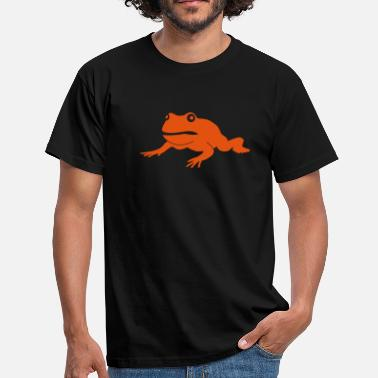 Illustration grumpy frog - Men's T-Shirt