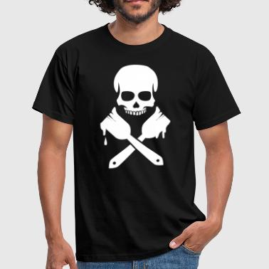 Paint Brush Skull - Männer T-Shirt