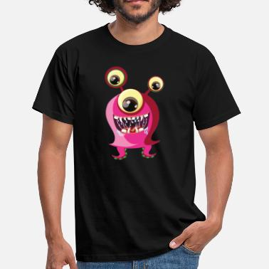 Three-eyed Monstrine - Pink, three-eyed monster - Men's T-Shirt