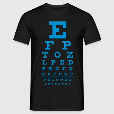 eye chart - T-shirt herr