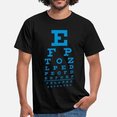 Job eye chart - Men's T-Shirt