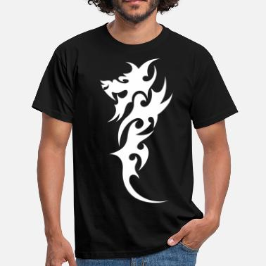 Runer Tribal Tattoo tribal dragon - Herre-T-shirt
