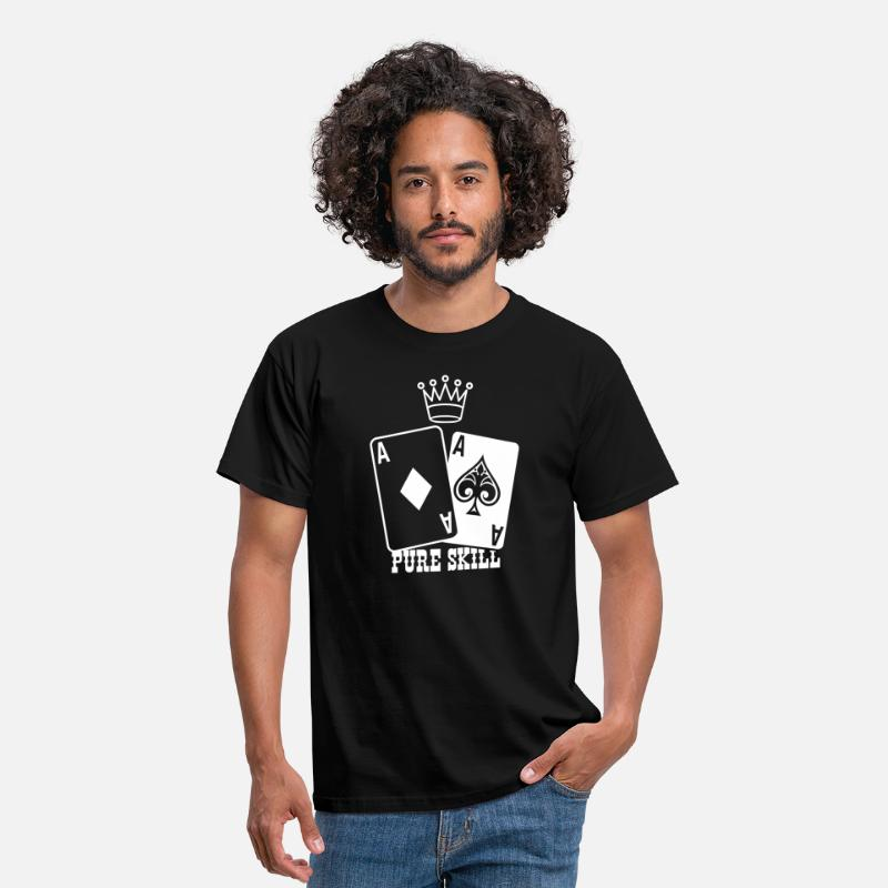 Ace T-Shirts - Poker - Pure Skill - Men's T-Shirt black