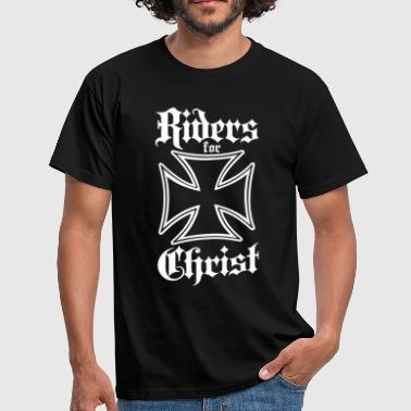 Riders for Christ Iron Cross - Men's T-Shirt