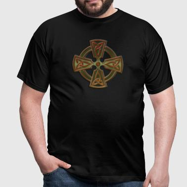 Green Four Triquetra Cross.png - T-shirt Homme
