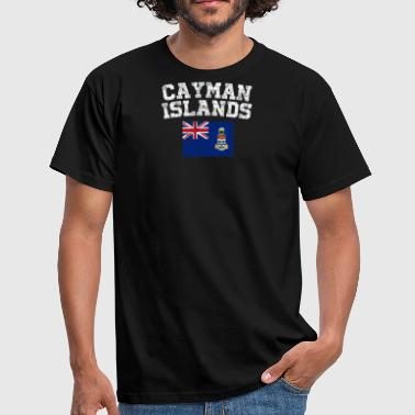 Cayman Islands Flag Shirt - Vintage Cayman Islands - Men's T-Shirt