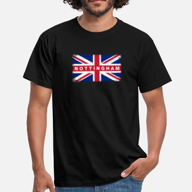 Nottingham Nottingham Shirt Vintage United Kingdom Flag - T-shirt herr
