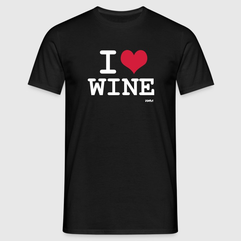 Gris chiné I love wine by wam T-shirts - T-shirt Homme