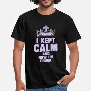 Drunk Crown i kept calm drunk - Men's T-Shirt