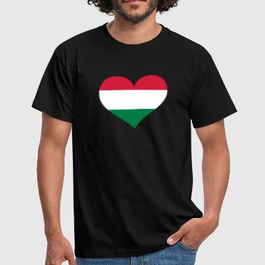 Ungarn Herz; Heart Hungary - Men's T-Shirt