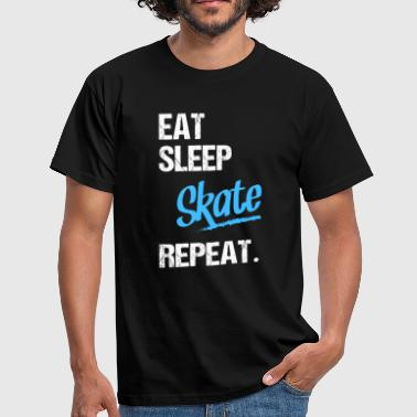 EAT SLEEP skate - 2 - T-skjorte for menn