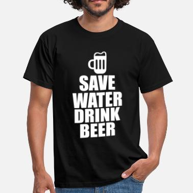 Drink Alcohol Fun Shirt - Save water drink beer - Herre-T-shirt