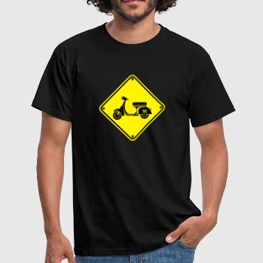 Warning Vespa 2 - Men's T-Shirt