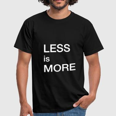 Less is more - T-skjorte for menn