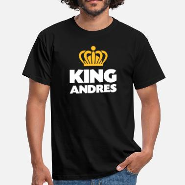 Andres King andres name thing crown - Men's T-Shirt