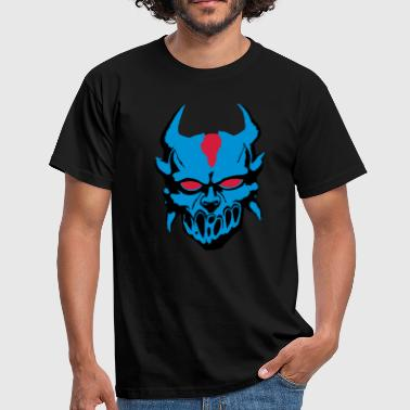 Demon Eye Demon with blue eyes - Men's T-Shirt