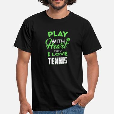 Badminton Grappig tennis - Mannen T-shirt