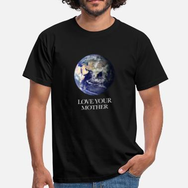 Anti-conservative Earth globe conservation - Men's T-Shirt