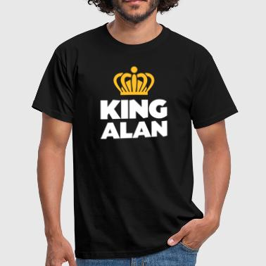 King alan name thing crown - Men's T-Shirt