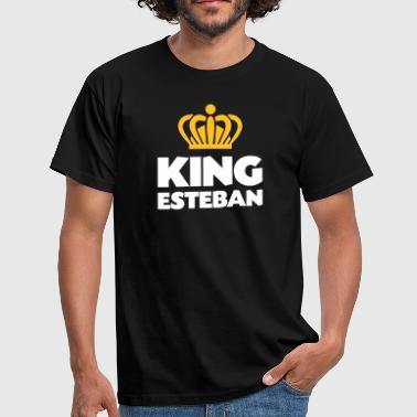 King esteban name thing crown - Men's T-Shirt