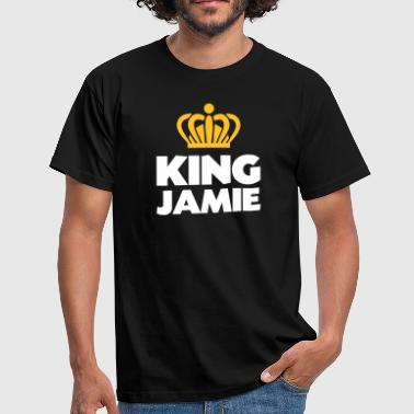 King jamie name thing crown - Men's T-Shirt