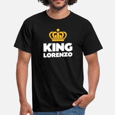 Lorenzo King lorenzo name thing crown - Men's T-Shirt