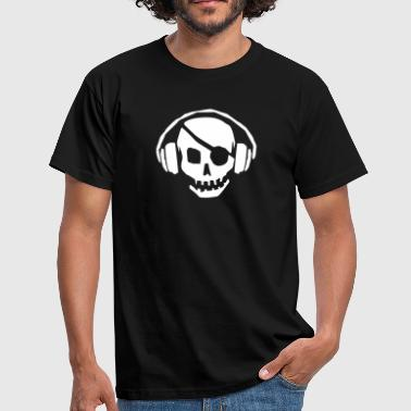 Pirate Flag Music - Men's T-Shirt