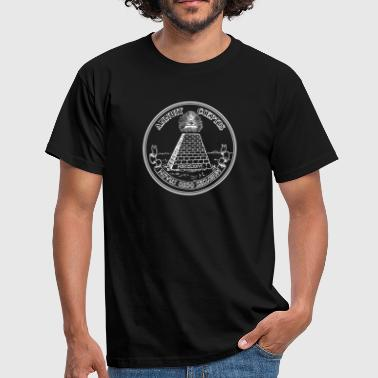 Illuminati Symbol Amulet All seeing eye, pyramid, dollar, freemason, god - Men's T-Shirt