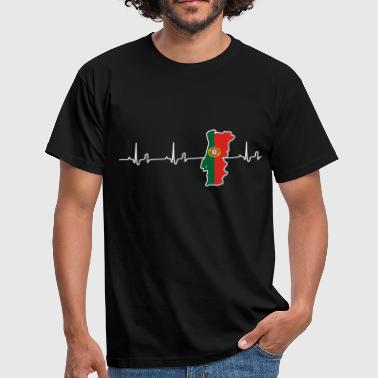 Heartbeat - Portugal - Mannen T-shirt